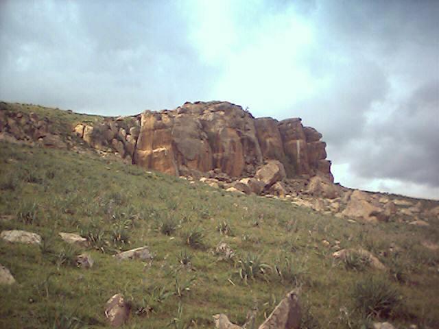 Kef Messaoura, commune de Zouabi, région de Sedrata, Algérie.